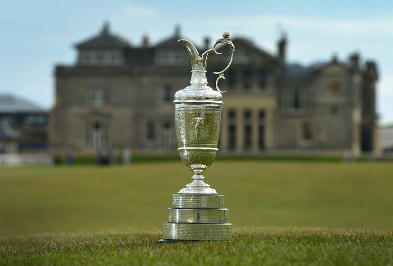 Claret Jug photographed at St. Andrews