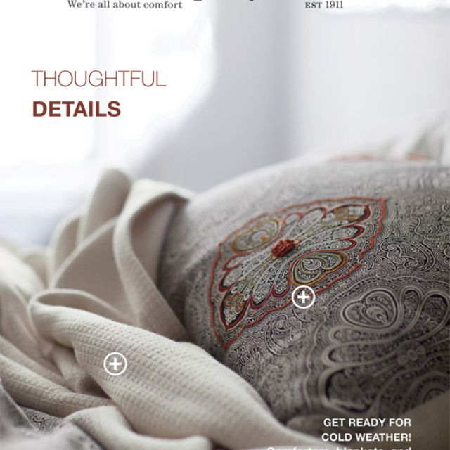 The cover of the Fall 2019 The Company Store catalog featuring boho bedding