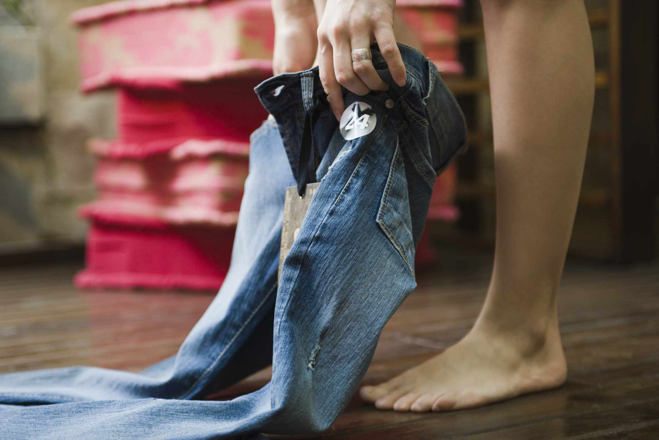 How to Soften Stiff Denim Jeans So They're Comfortable