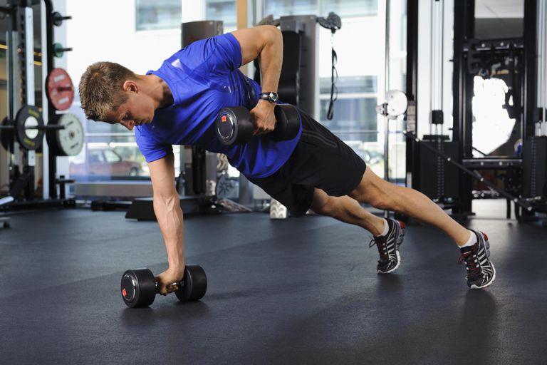 Man exercsing in gym