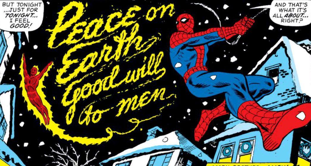 marvel team up spider man human torch christmas