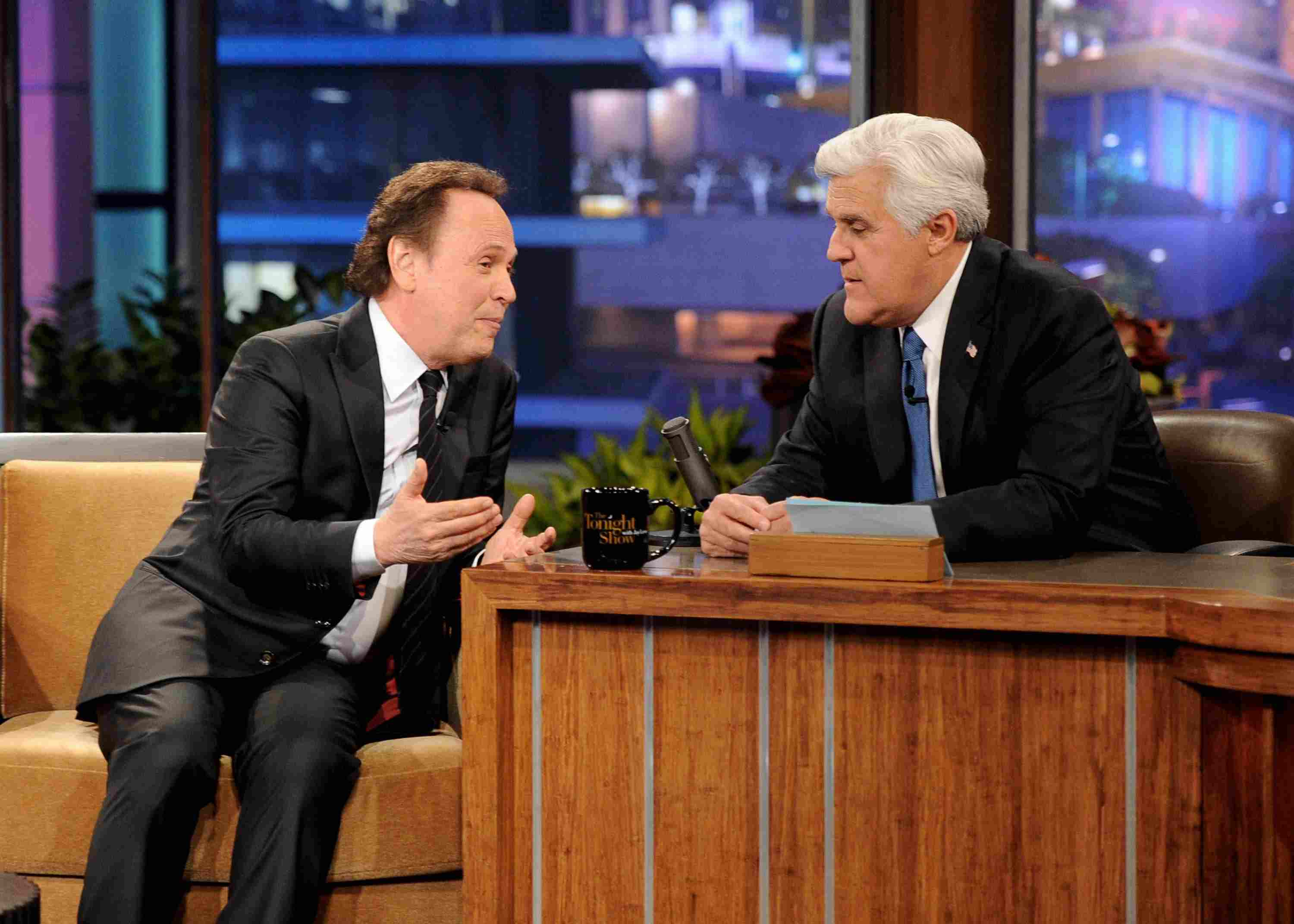 Jay Leno and Billy Crystal on 'The Tonight Show'