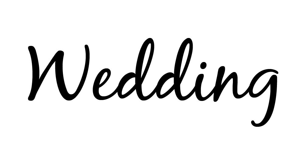 The free wedding font Blackjack