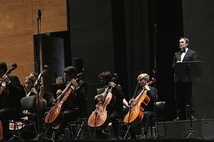 Luigi Dei durante la Notte del Bolero al Teatro Dell'Opera di Firenze