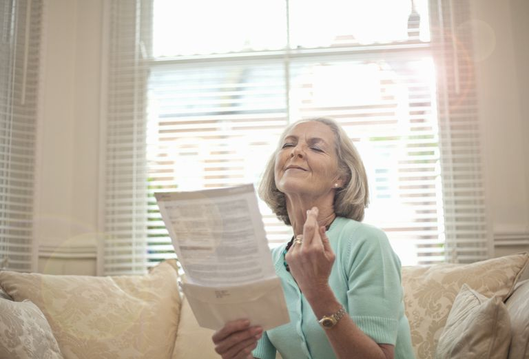 Woman Happy to Receive a Prize Notification
