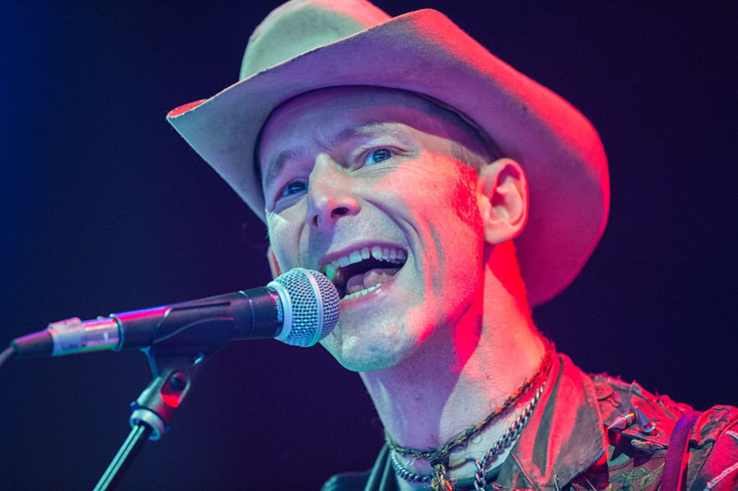 Hank Williams III performs at a music festival