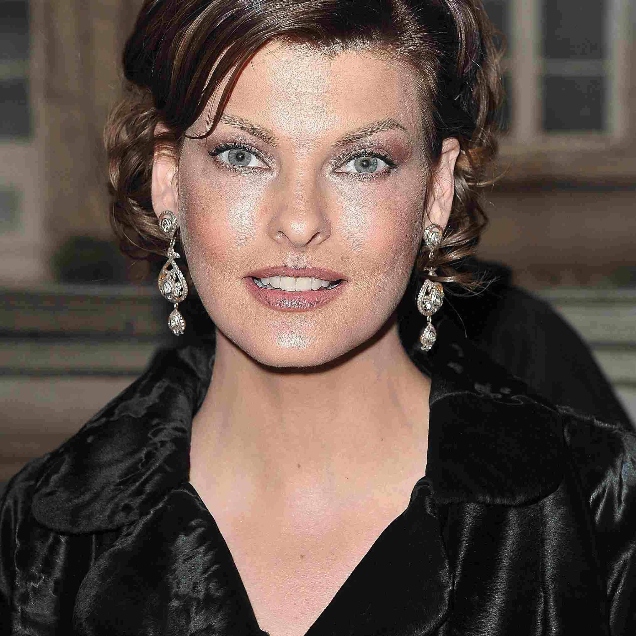 Model Linda Evangelista attends Alexis Mabille show during Paris Fashion Autumn/Winter 2009 on January 26, 2009 in Paris, France.