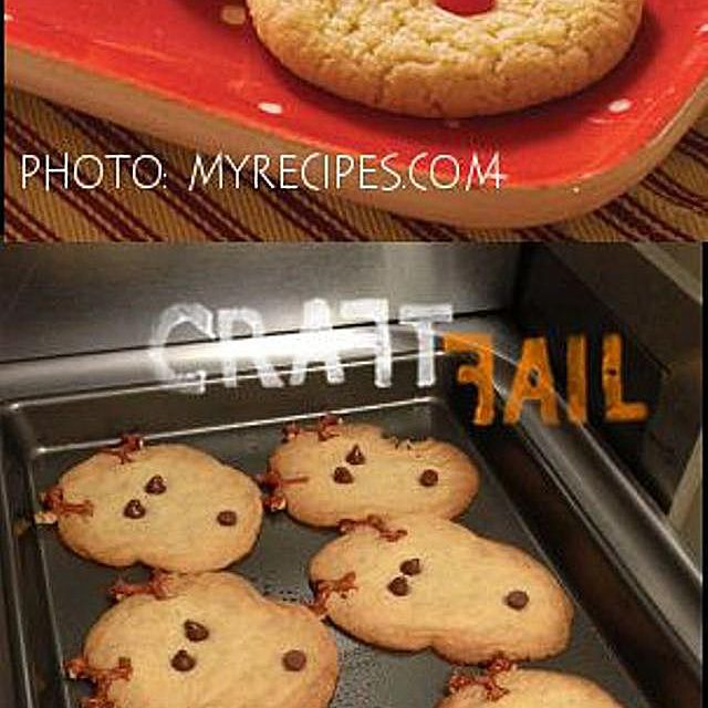 Comparison of model reindeer cookies and a failed result