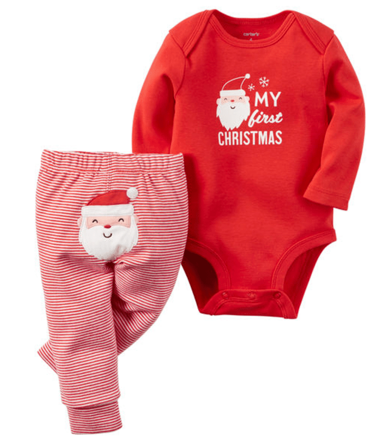 Carter's 2-Piece Christmas Bodysuit & Pant Set - 20 Adorable Baby's First Christmas Outfits
