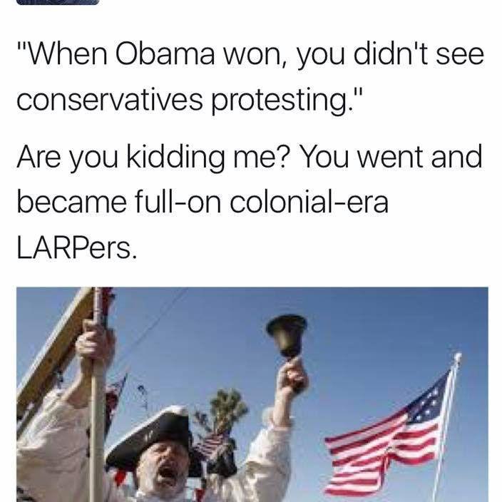 LARPers - Trump meme