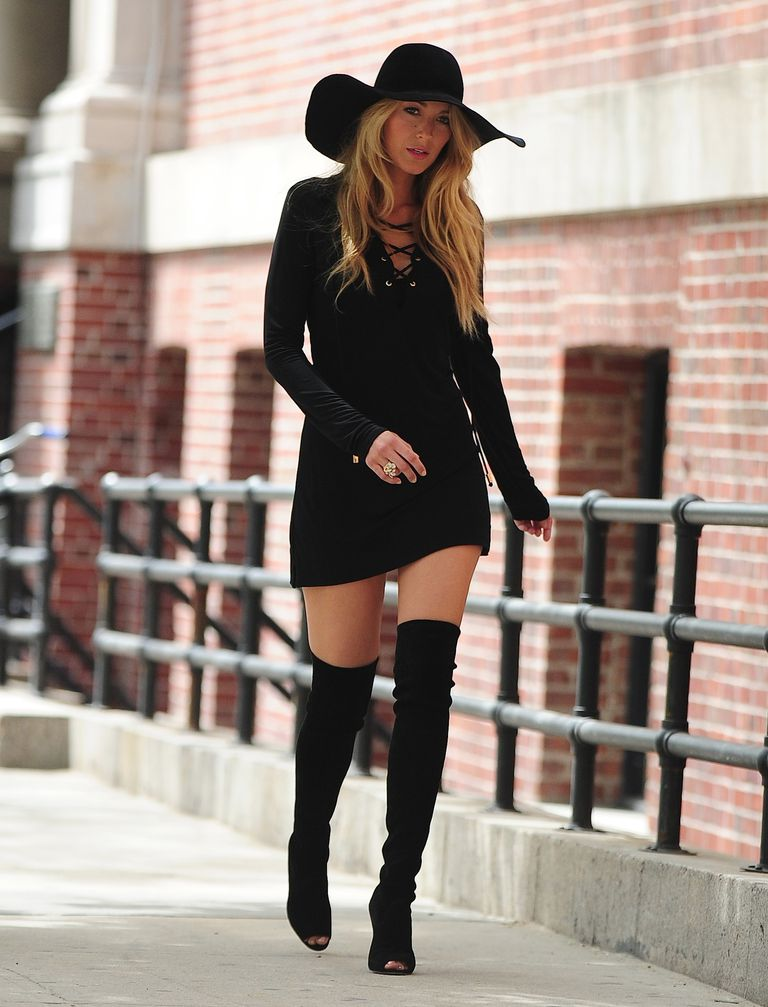 3bed5ece8e8 How to Style Over-the-Knee Boots Like a Celebrity