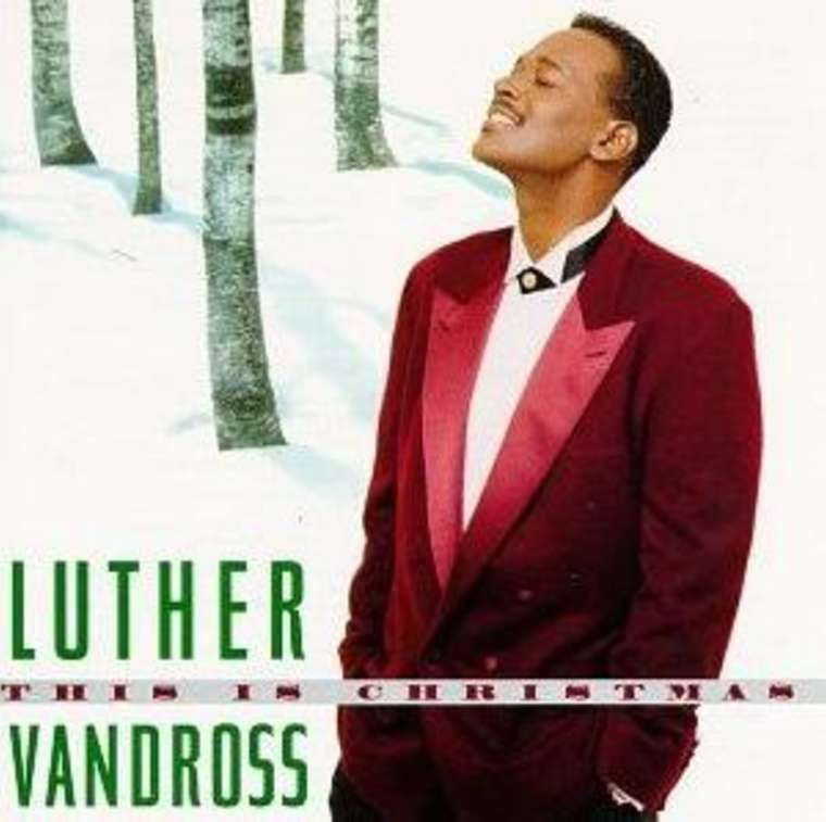 Luther Vandross Christmas album cover.