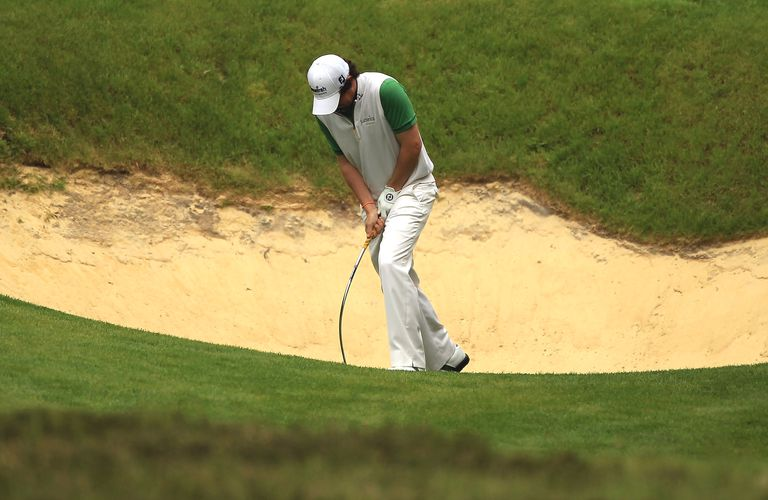 Rory McIlroy Bends Sand Wedge