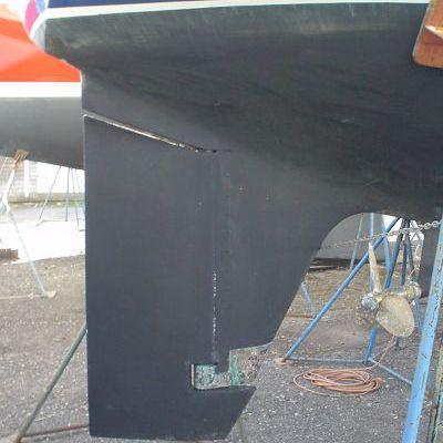 Sailboat Skeg-Mounted Rudder