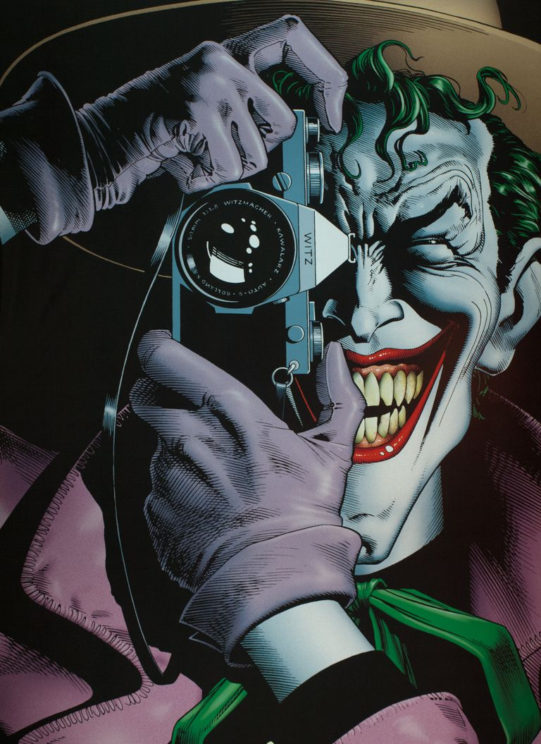 The Joker looking through a camera