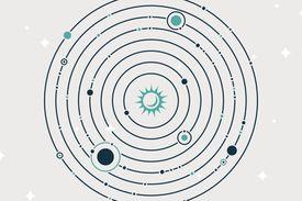 Solar System Planets Orbiting the Sun