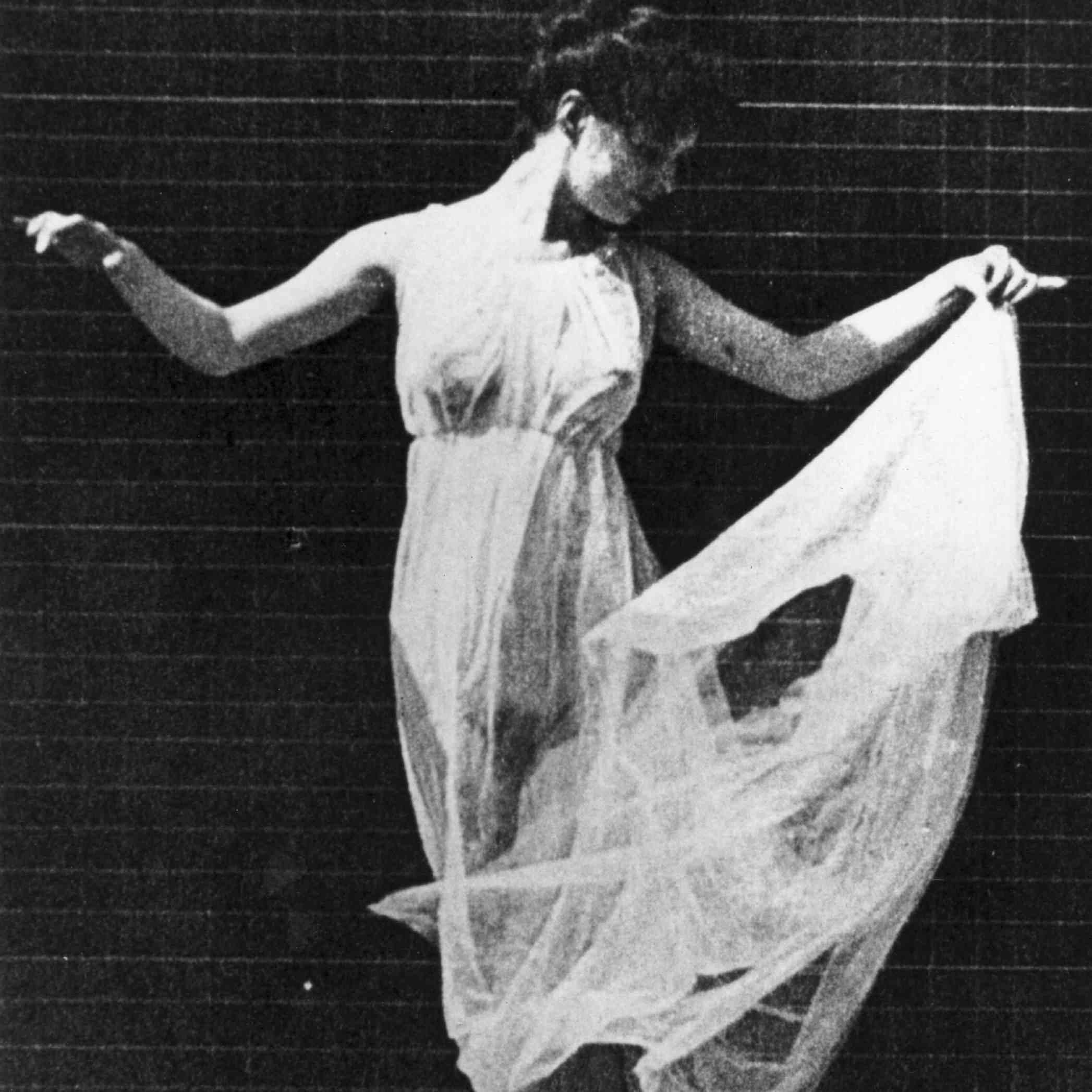 Famous dancer Isadora Duncan