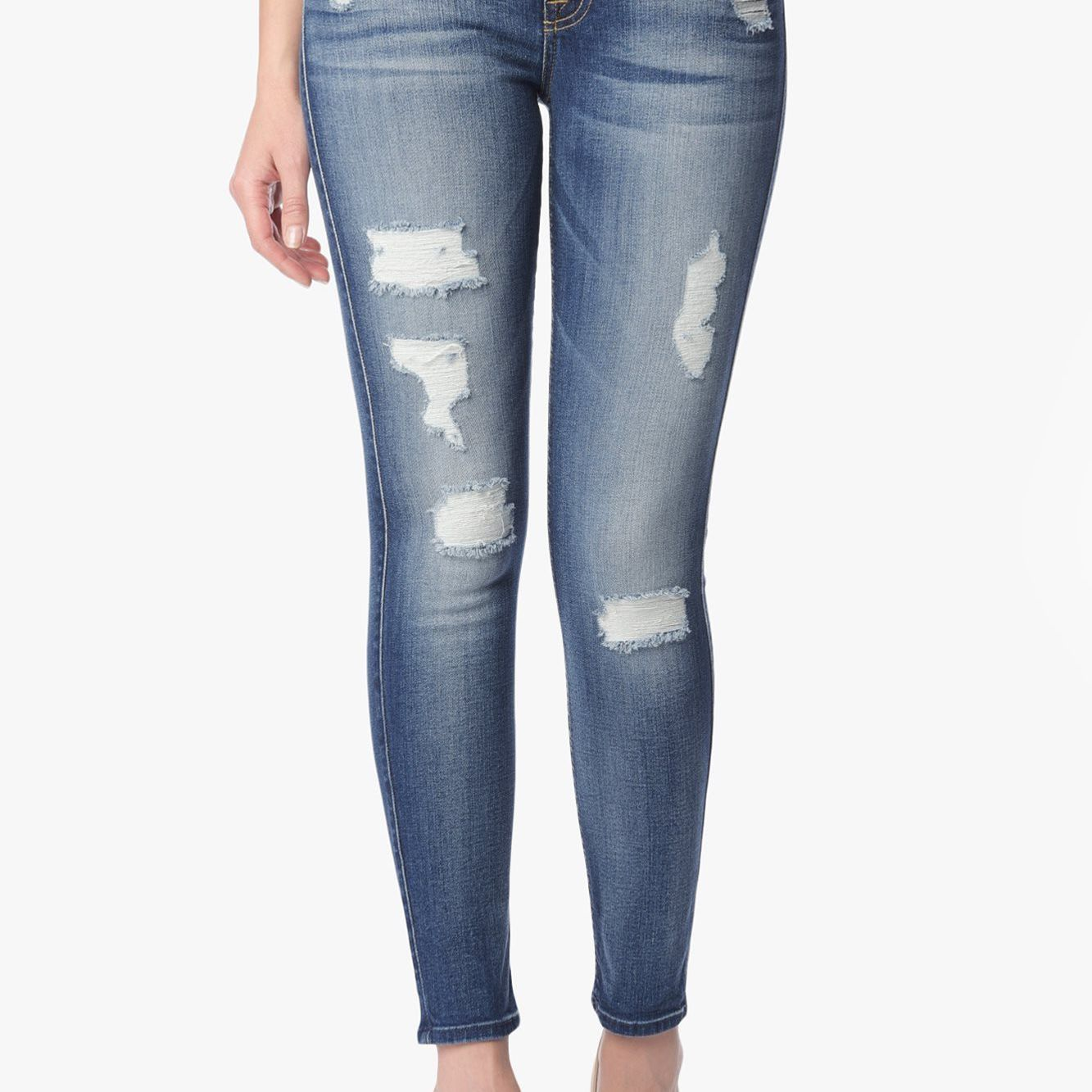 7 for All Mankind Distressed Ankle Skinny Jean
