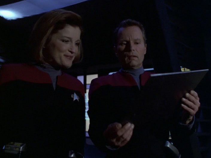 Captain Janeway and Captain Ransom