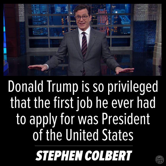 Colbert - Trump meme