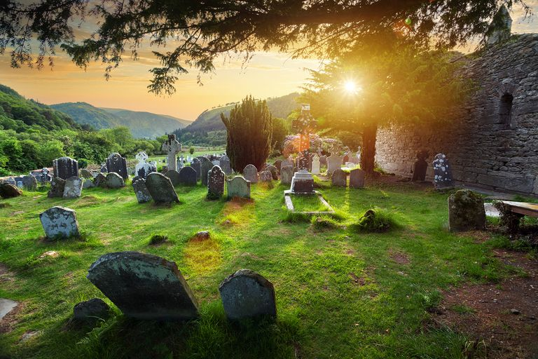 Glendalough Monastic Site in Country Wicklow, Ireland