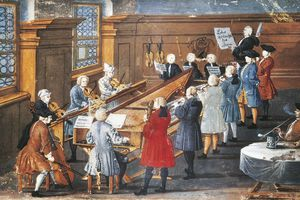 Vocal and instrumental concert in the Baroque period
