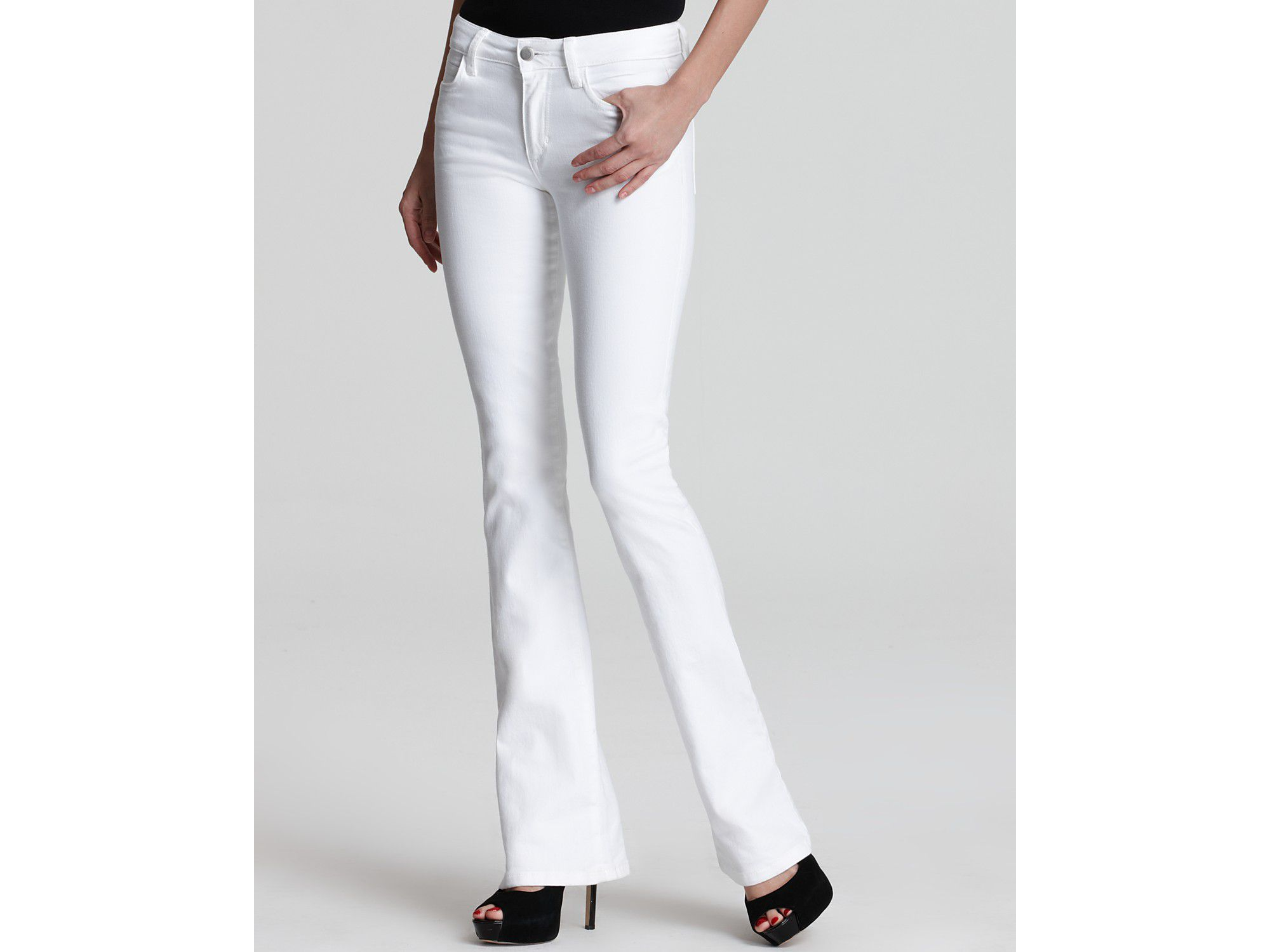 White jeans bootcut style petite fit