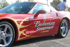 car sponsored by Budweiser Shootout
