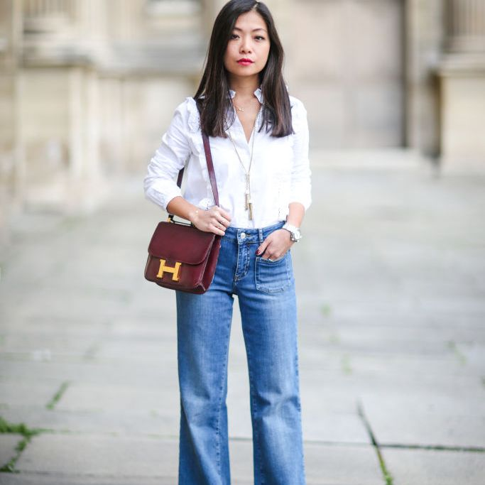 9af7a7dc8713f Wide Leg Jeans Outfits Inspired by Paris Street Style