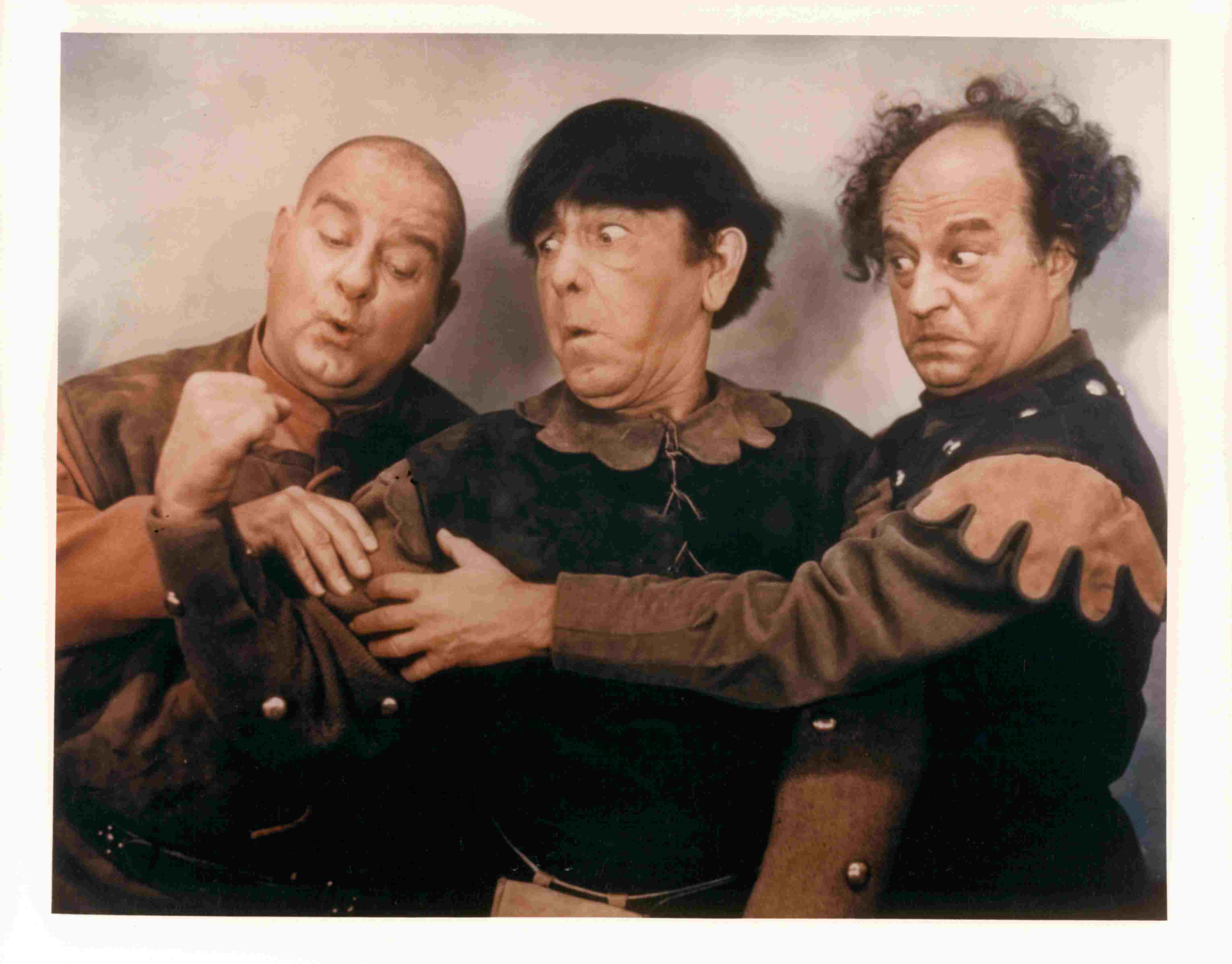 Joe DeRita And Larry Fine In 'Snow White And The Three Stooges'
