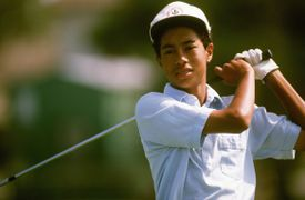 Tiger Woods pictured at age 13 in January 1989