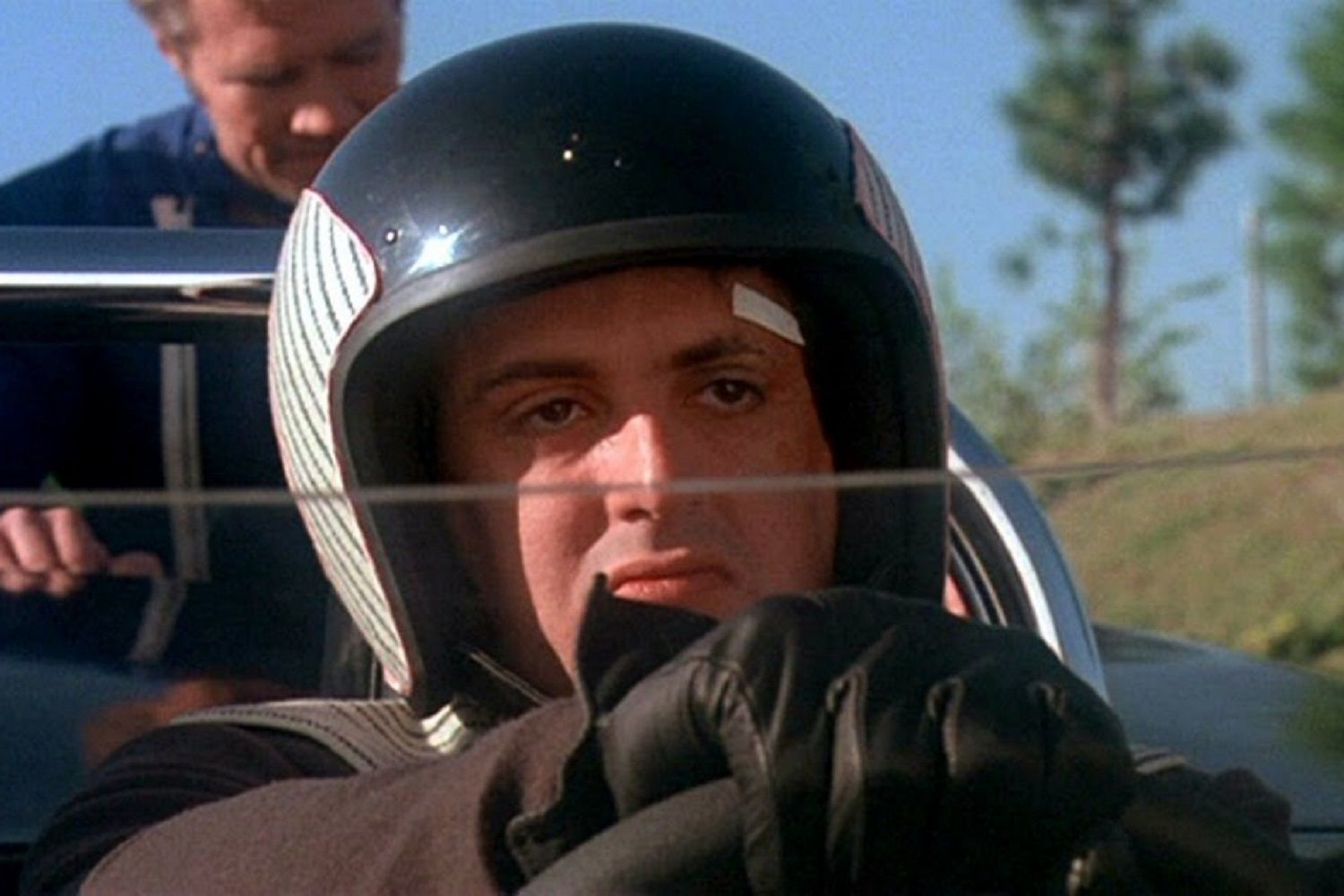 Actor Sylvester Stallone in Death Race 2000 (1975)