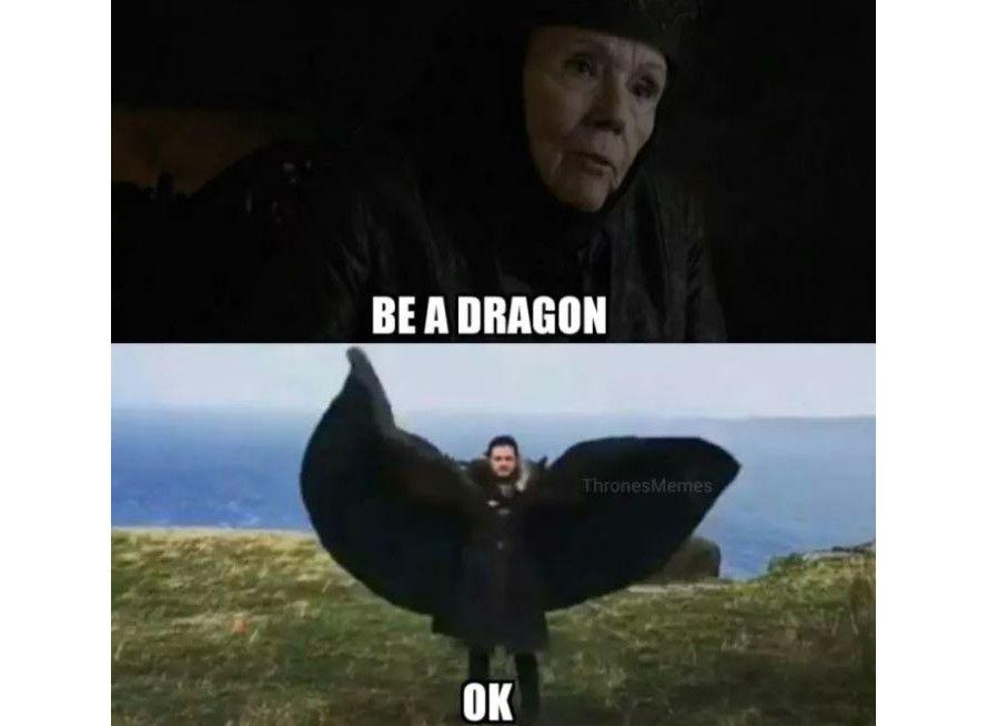 Be a dragon meme