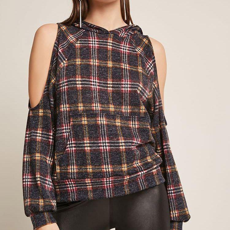 da0f8026dc539c Flannel. Plaid Flannel Top. Forever 21