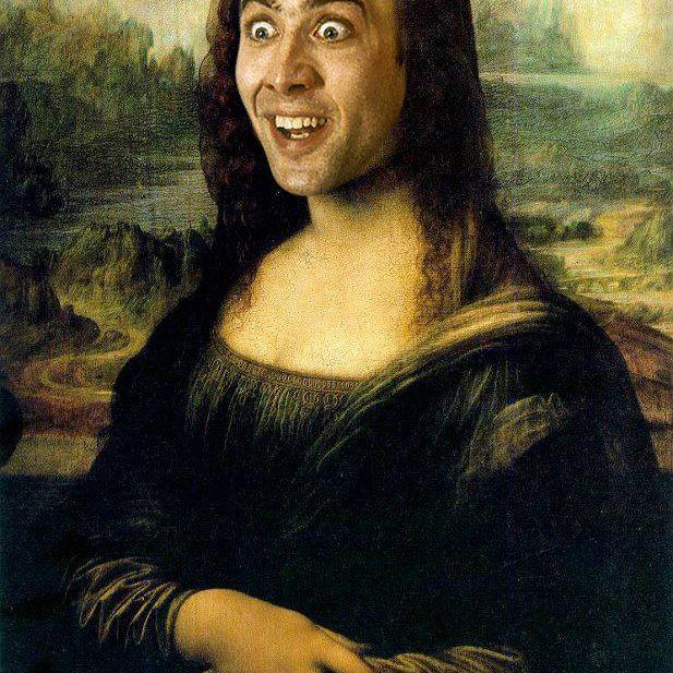 Nic Cage as Mona Lisa