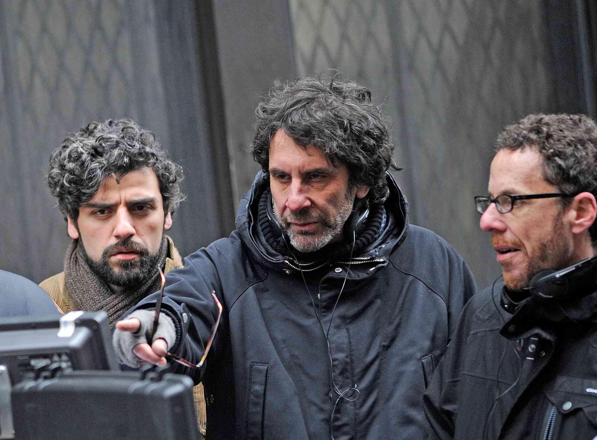 Actor Oscar Isaac, Director Joel Coen and Director Ethan Coen