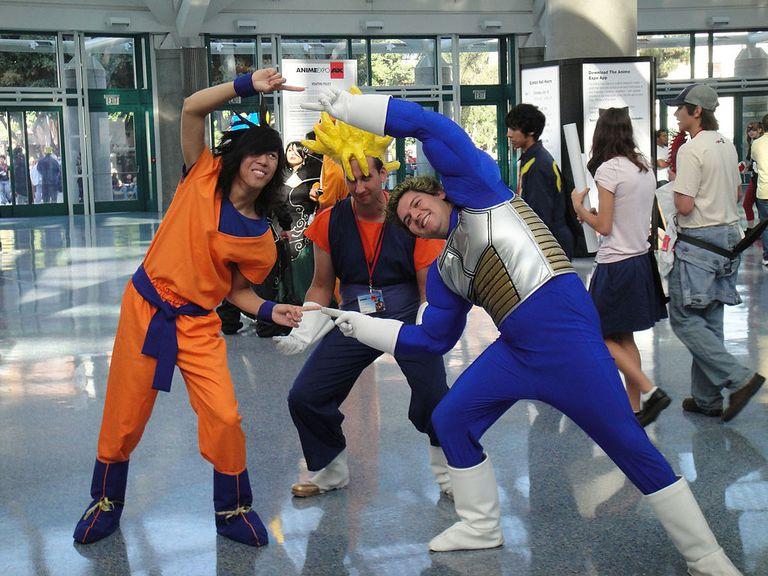 Cosplayers from Dragon Ball Z: Shin Budokai at Anime Expo 2010