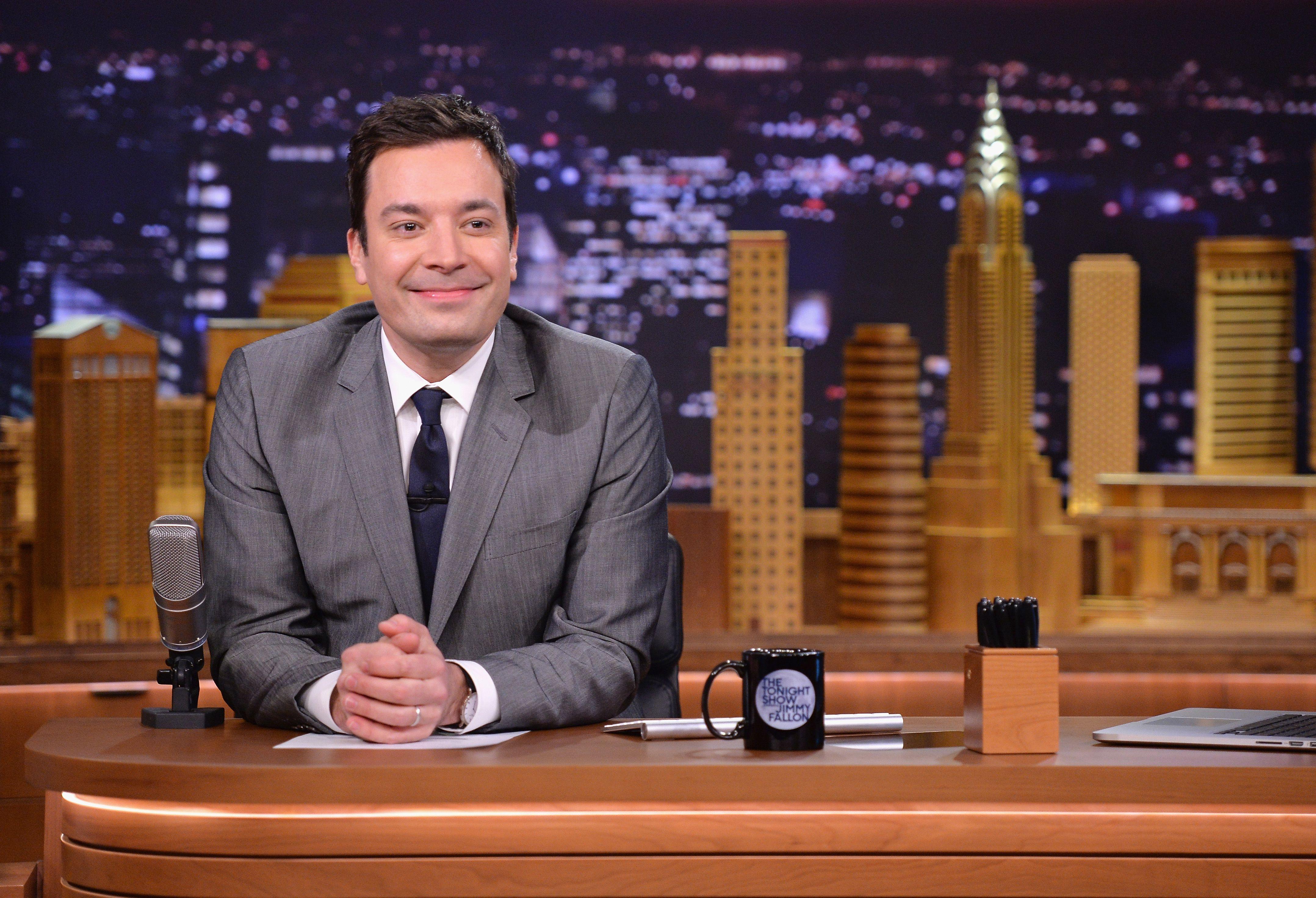 Drew Barrymore & Adam Sandler Visit 'The Tonight Show Starring Jimmy Fallon'