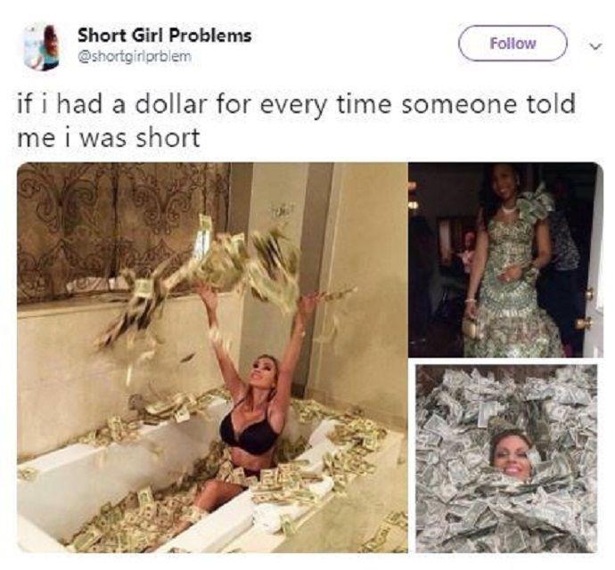 girl in bathtub full of money