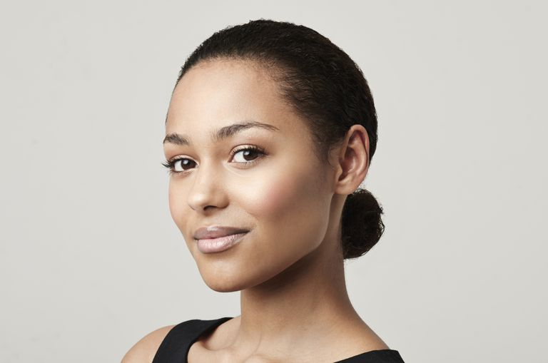 A bun is a simple transition hairstyle.