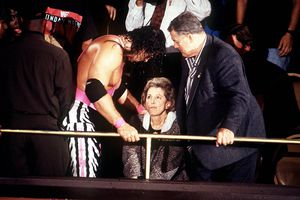 Bret Hart and his family appear on RAW in 1993