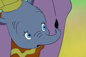 A film still of Dumbo