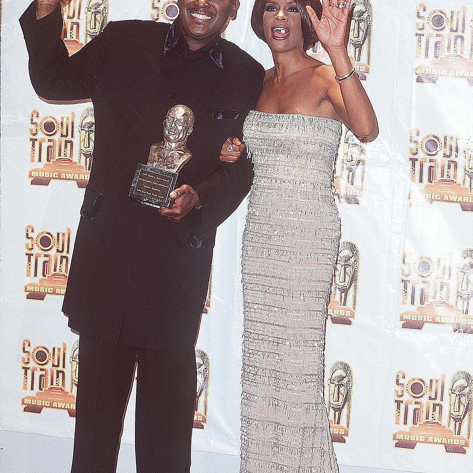 Luther Vandross with Whitney Houston at the Soul Train Awards