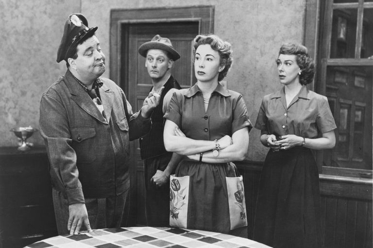 Photograph of the cast of The Honeymooners