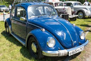 Auto Volkswagen-1300 'Beetle'.In the park of Ostrovsky was held the next exhibition Retro Motor Show