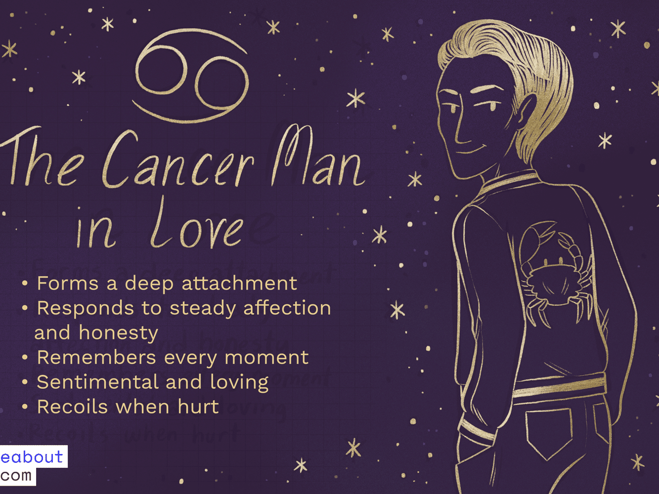 What does a cancer man need in a relationship