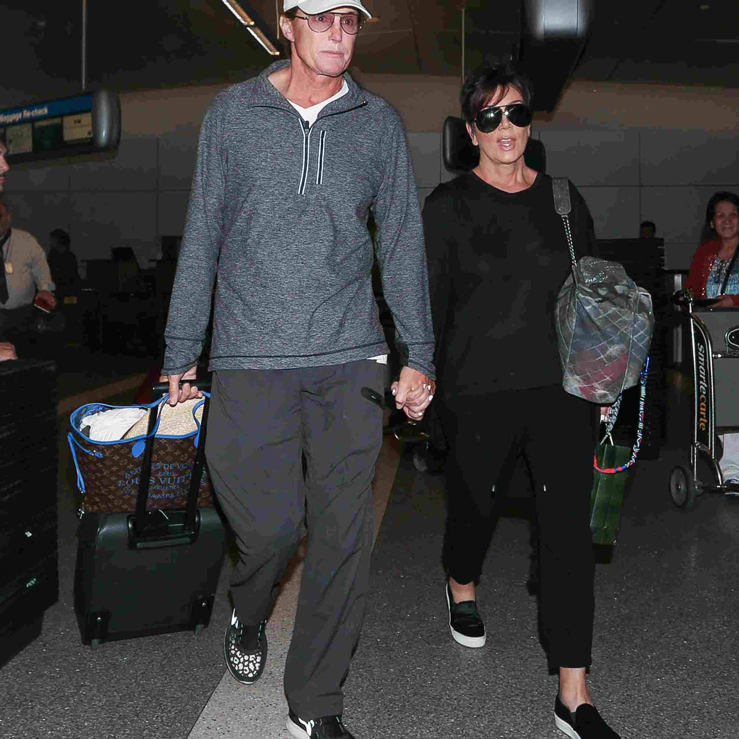 Bruce and Kris Jenner at LAX