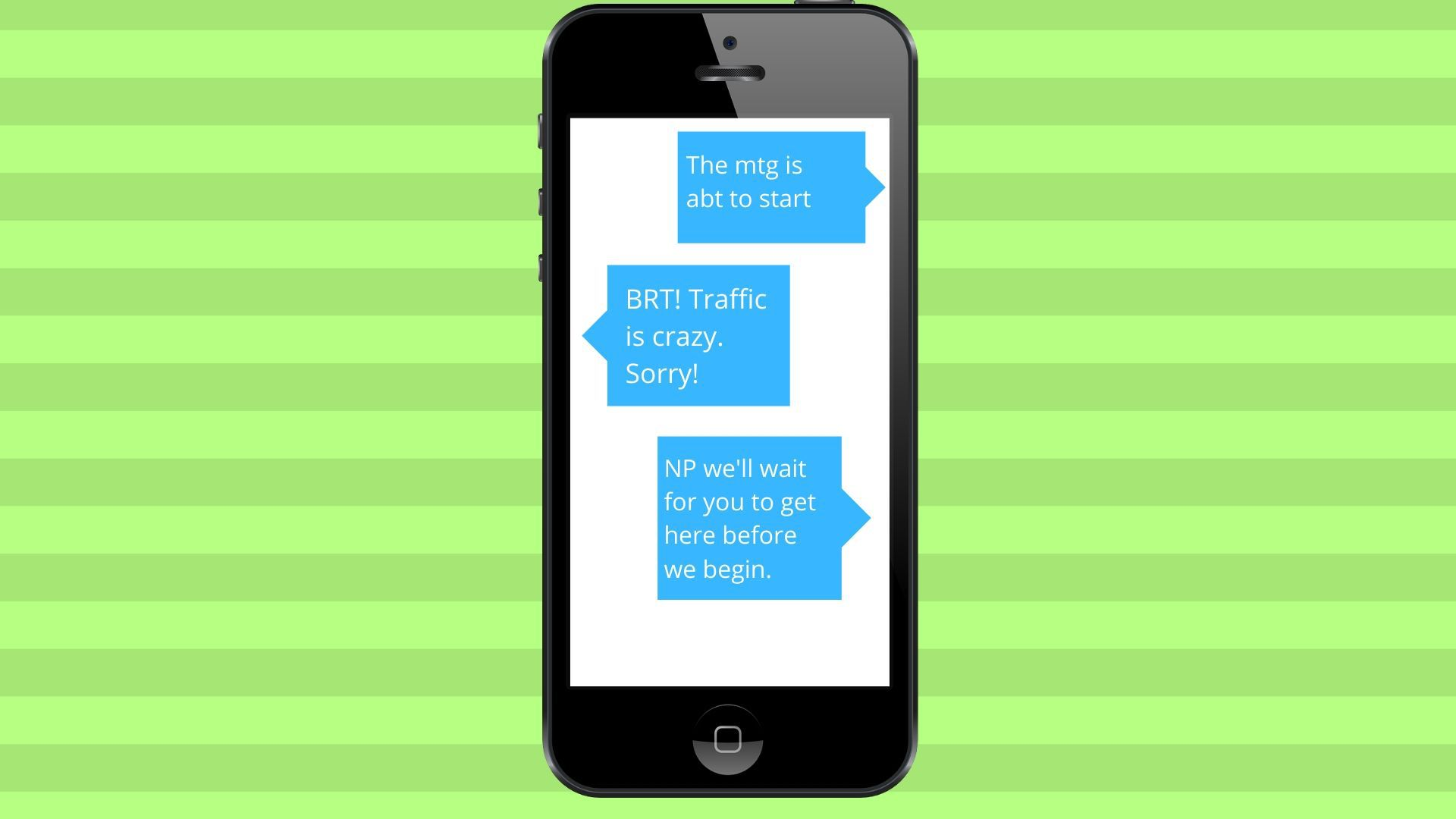 Chat message using BRT.