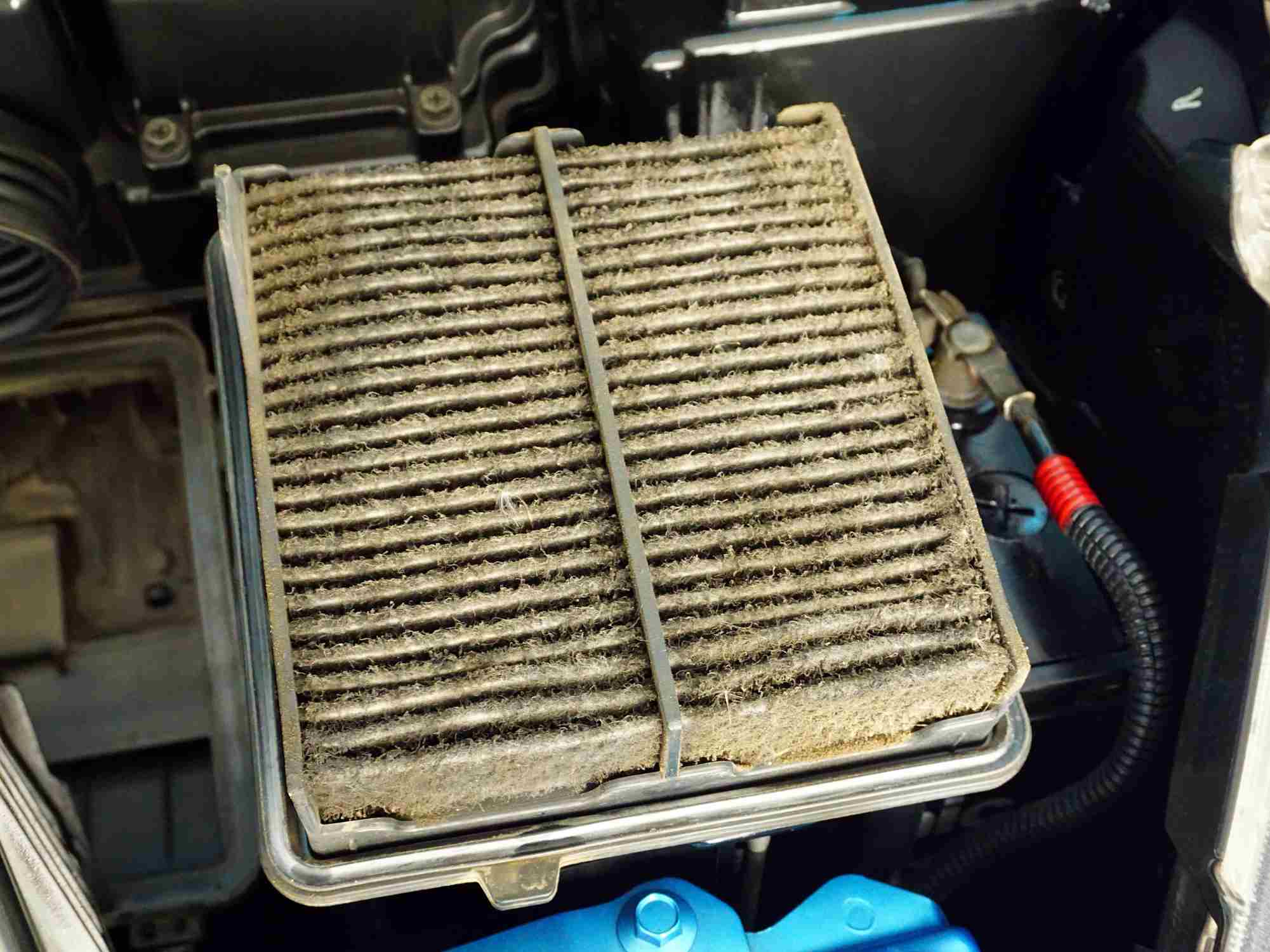 severely clogged engine air filter