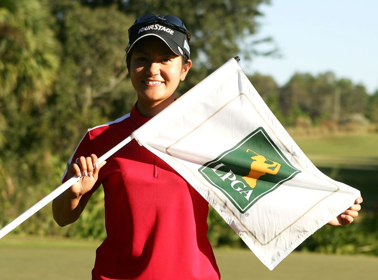 Ai Miyazato after winning LPGA Q-School in 2005